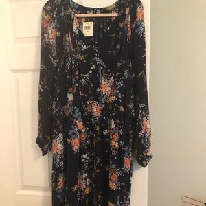NWT Lucky Brand Floral dress size 2x